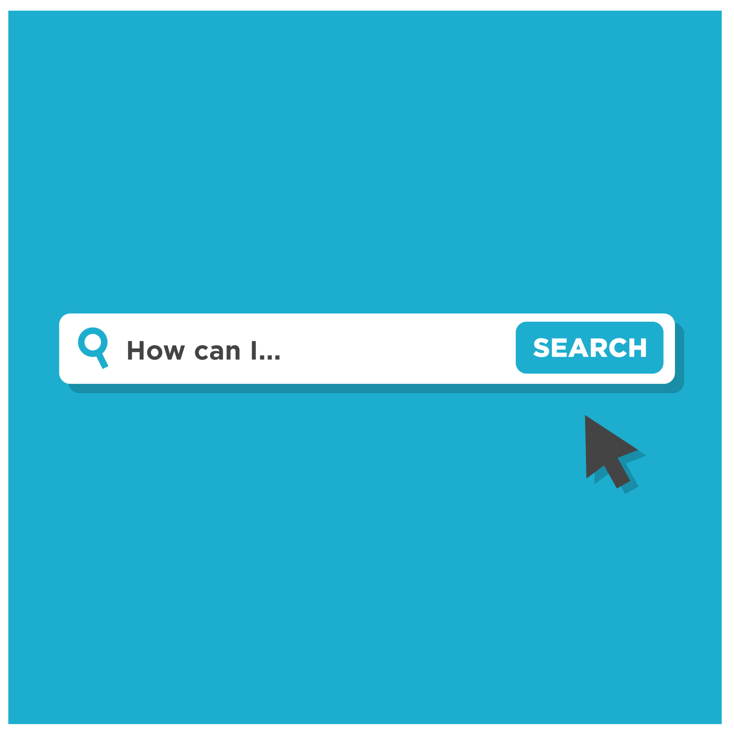 How Can I Written in Browser Search Bar with Mouse Pointer